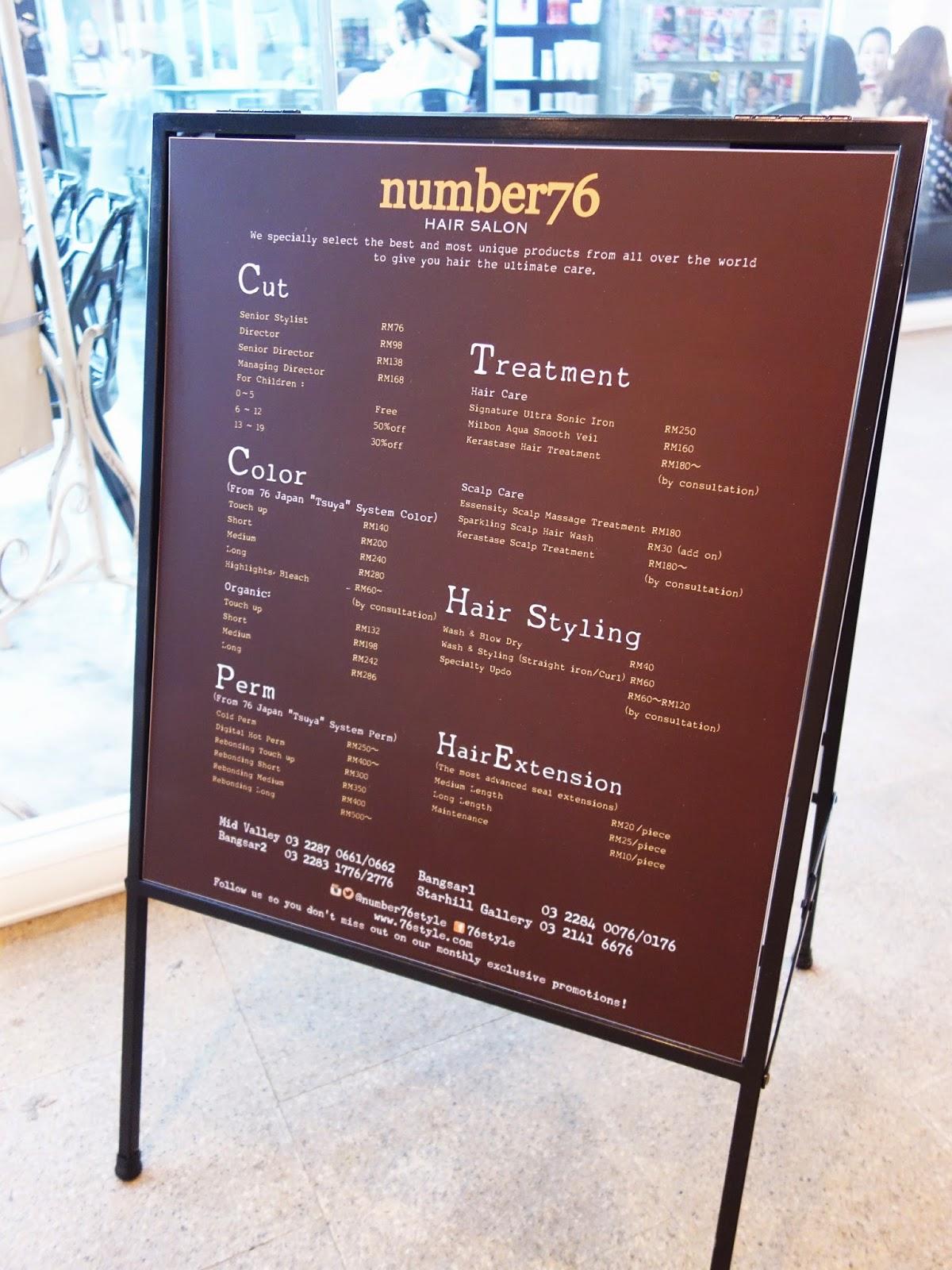 Number 76 style k rastase sensidote for 76 salon mid valley