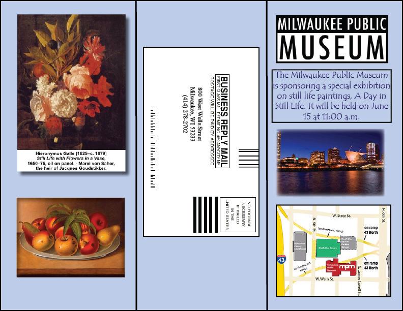 desktop publishing art museum brochure outside. Black Bedroom Furniture Sets. Home Design Ideas
