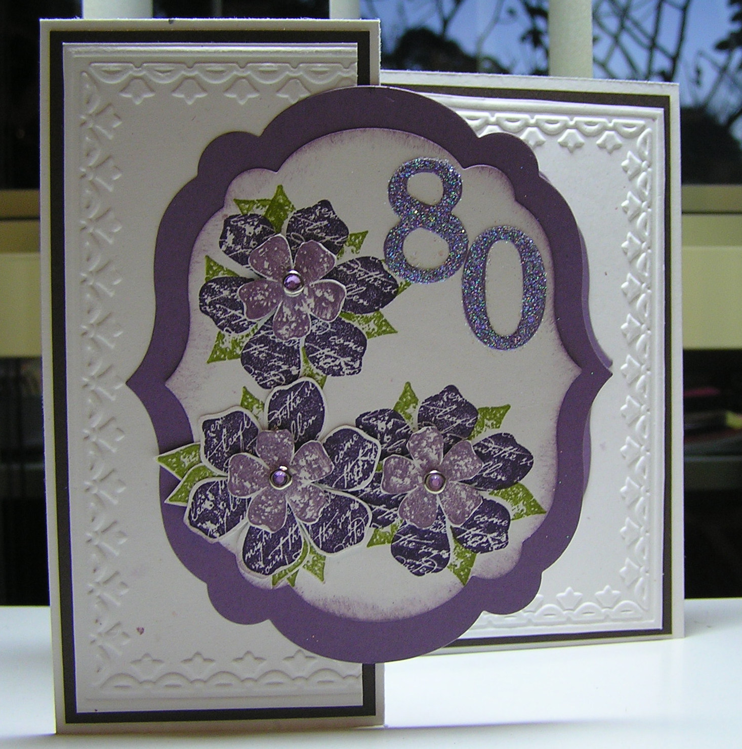 Stamping Passion Mums 80th Birthday Card – 80th Birthday Cards for Mum