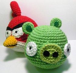 Amigurumi Green Pig : 2000 Free Amigurumi Patterns: Angry Birds Red Cardinal and ...
