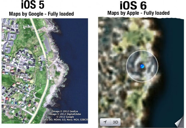iPhone 5 maps app glitches