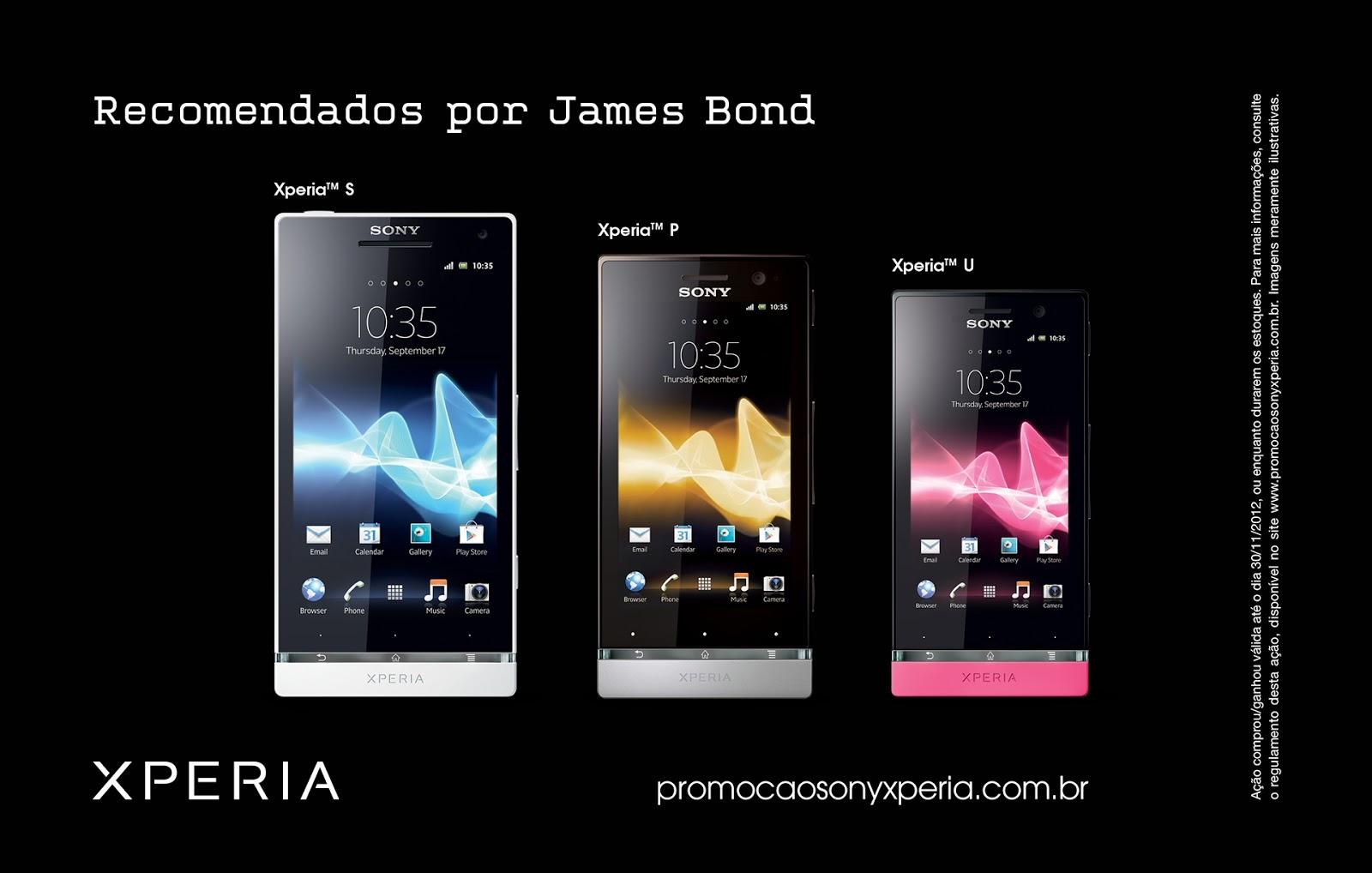 Sony Mobile lança promoção para smartphones recomendados por James Bond