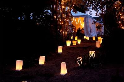 LQ Designs Paper Bag Luminaries Weddingbee