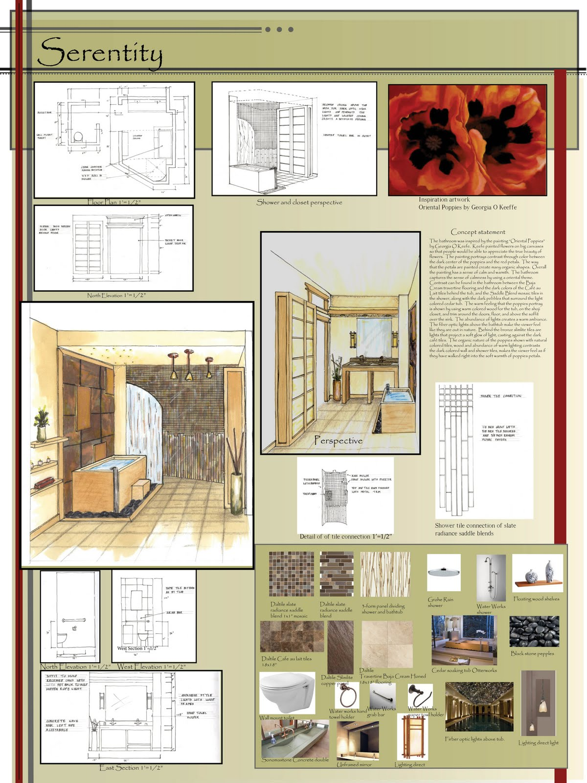 WSU Interior Design 2014: Winner in the Daltile competition
