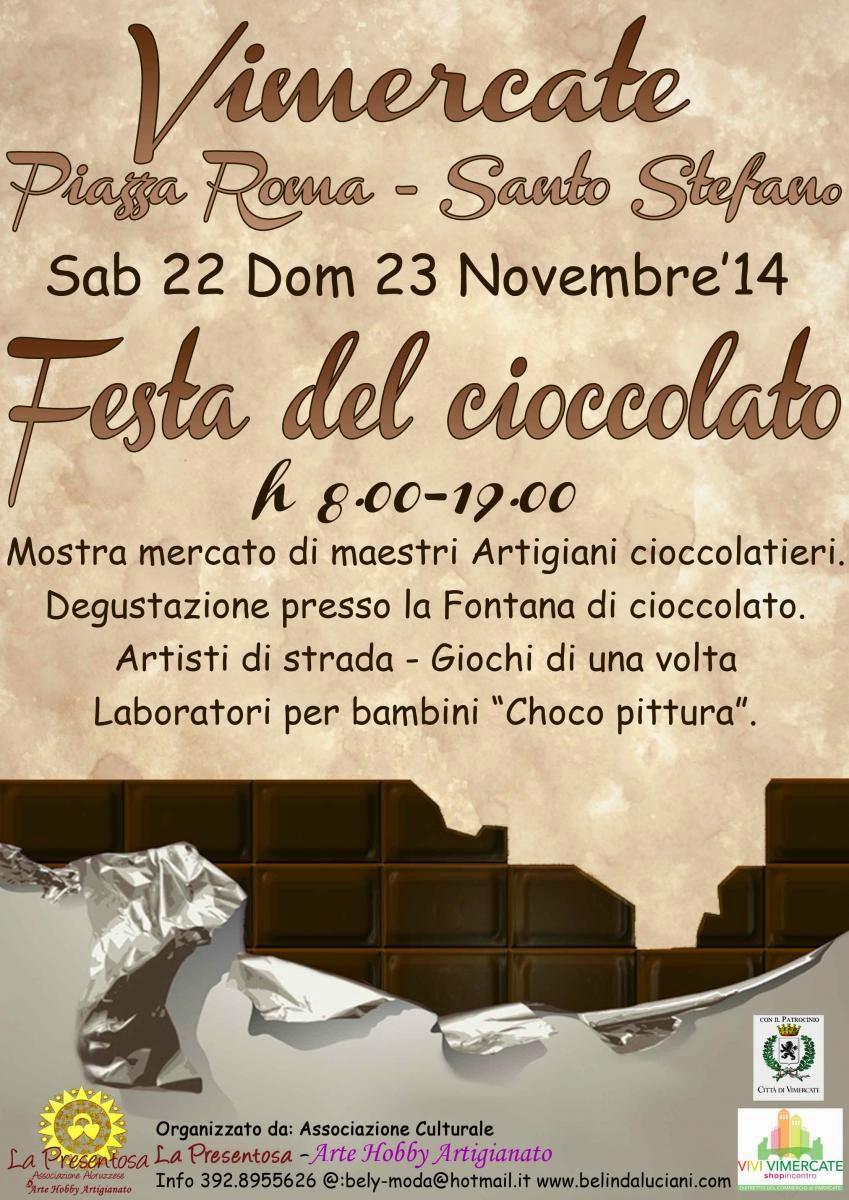 Festa del Cioccolato il 22 e 23 Novembre Vimercate