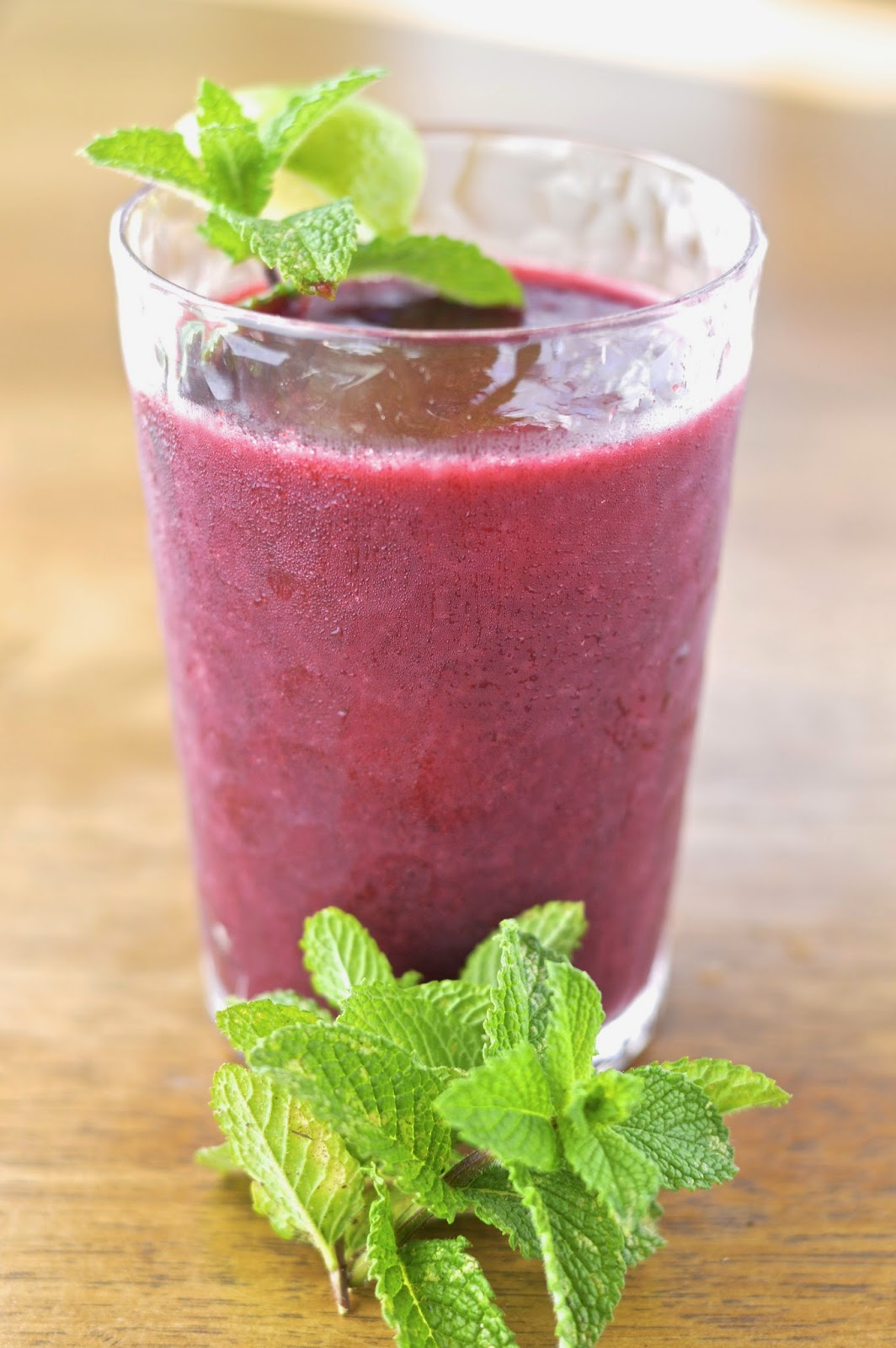 Frozen Blackberry Lime Mint Julep