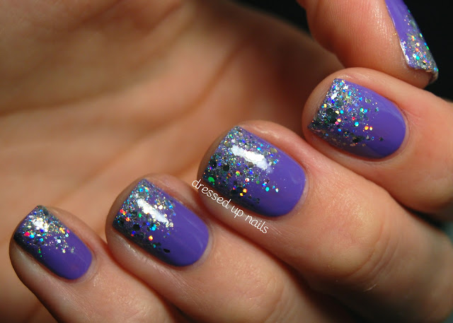 Wet n' Wild On a Trip + glitter gradient with China Glaze Glistening Snow and Finger Paints Santa's Magic