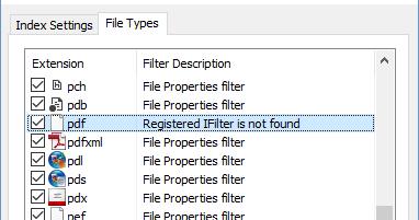 pdf ifilter windows 10