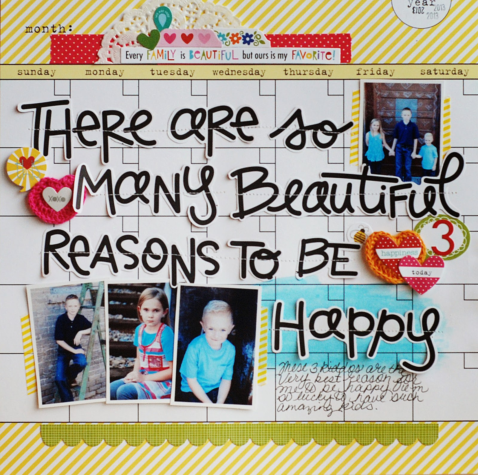 Scrapbook ideas many pictures - Scrapbook Ideas About Family Becki Adams There Are So Many Beautiful Reasons To Be Happy
