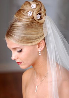 wedding hairstyles updo with veil