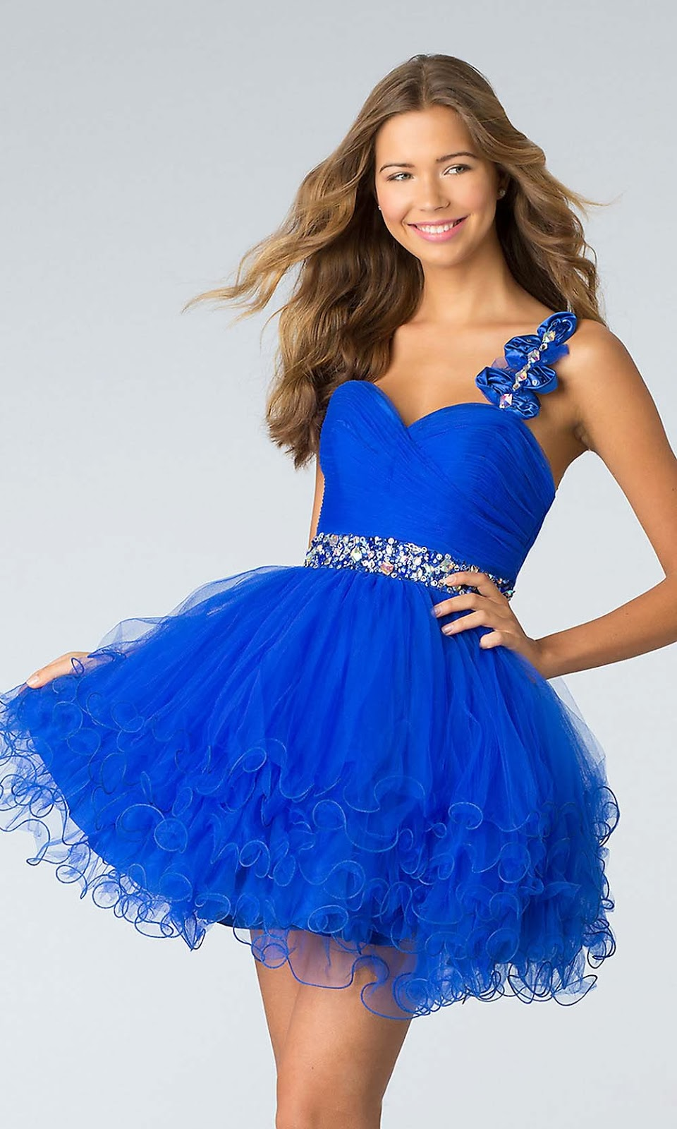 Short Royal Blue Prom Dresses - Holiday Dresses