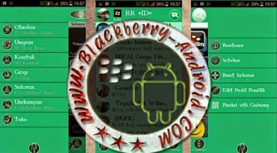 FREE BBM2 Mod Tema Material Green Full Features V2.8.0.21