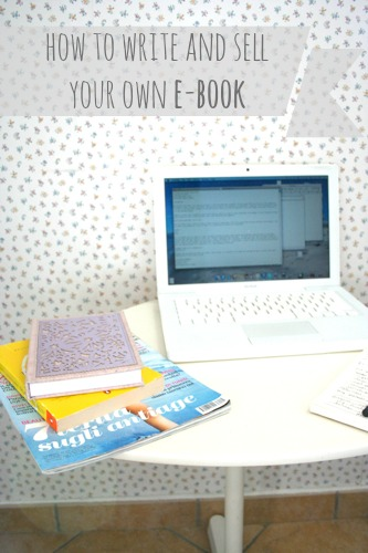 how to write and sell your own e-book