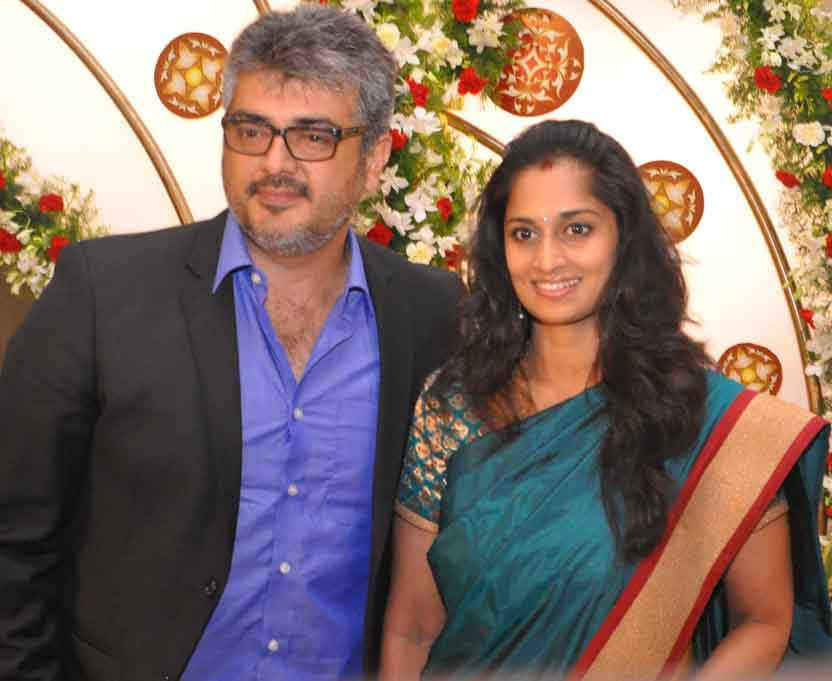 Ajith and Shalini latest photo