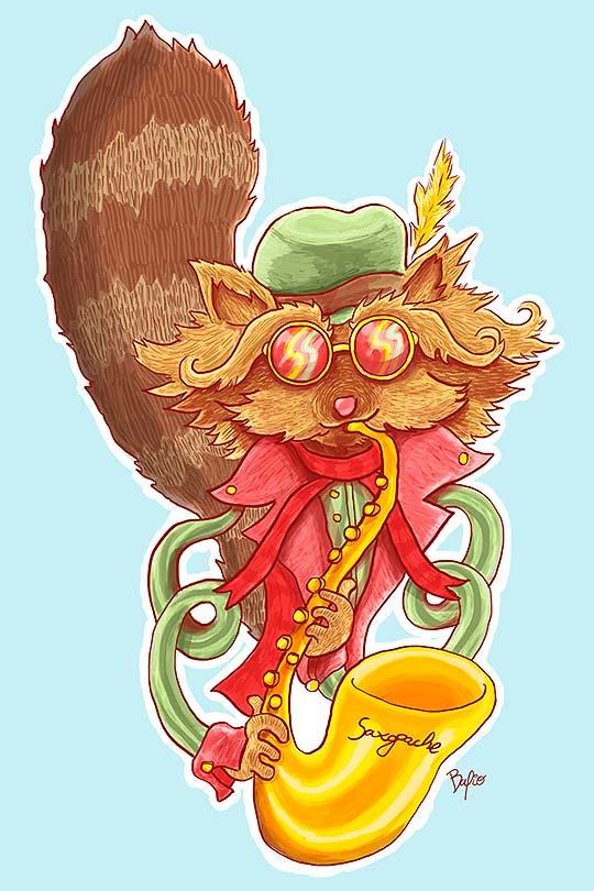 Ilustración de Fabio Parra aka Bafio