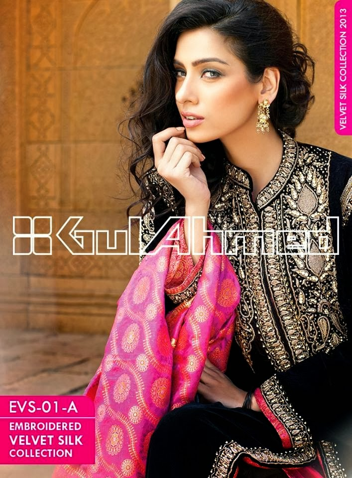 GulAhmedEmbroideredSilkVelvetCoats wwwfashionhuntworldblogspotcom 004 - Gul Ahmed Embroidered Silk Velvet Coats 2014