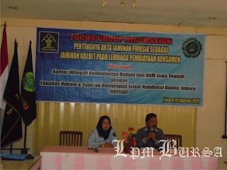 FSH UNISNU dan Kemenkumham Mengkaji Undang-Undang Jaminan Fidusia