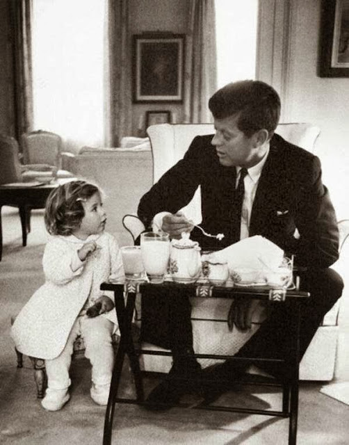John F. Kennedy and daughter Caroline