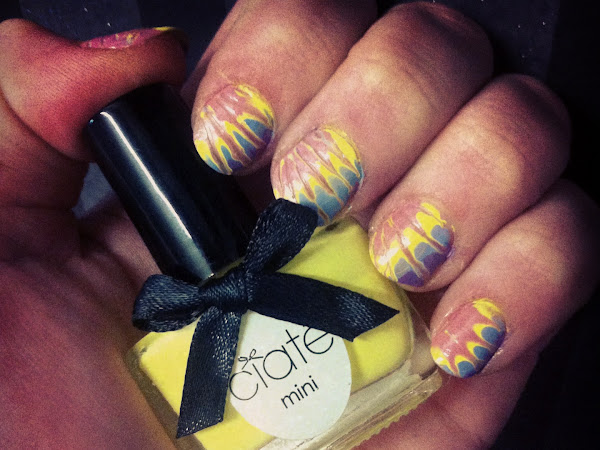 NOTD: Easter/tie-dye nails.
