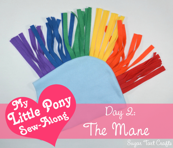 My Little Pony Costume Sew-Along : Day 2 - Adding the mane
