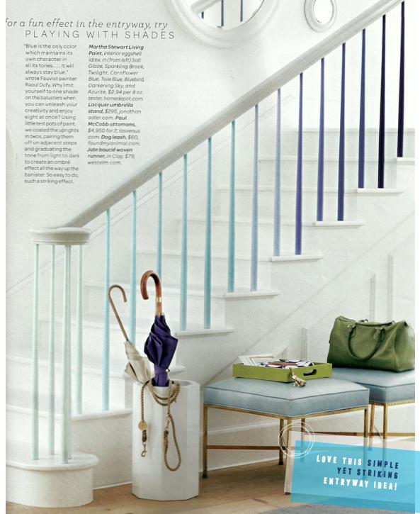 Martha Stewart Living Blue White Decorating Ideas Bright Bazaar