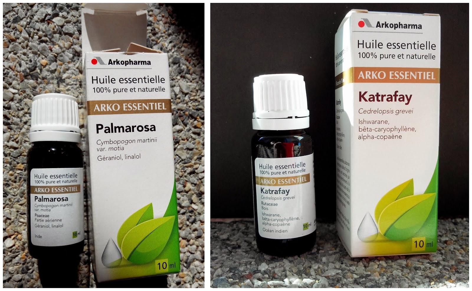 huile essentielle de Palmarosa et de  Katrafay des Laboratoires Arkopharma BullElodie