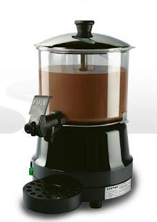 Cioccolatiera per contener il cioccolato bevanda da degustare