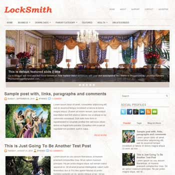 LockSmith blog template. magazine blogger template style. magazine style template blogspot