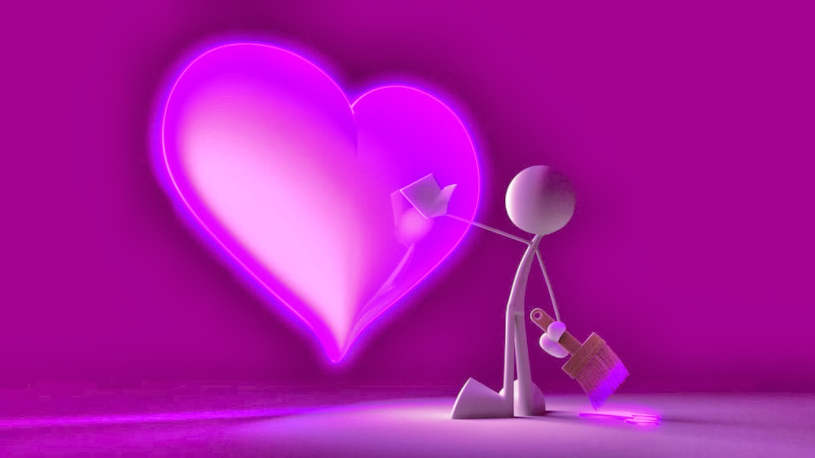 Love Wallpaper All New : All new wallpaper : 3d Love Paint Wallpaper