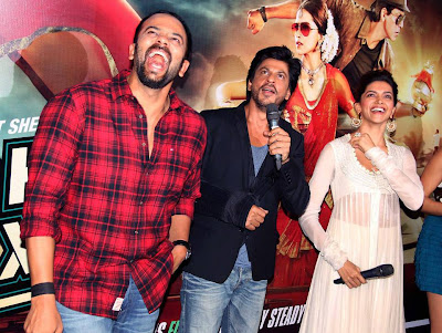 Shahrukh, Rohit & Deepika Padukone @ Chennai Express Trailer Launch-6