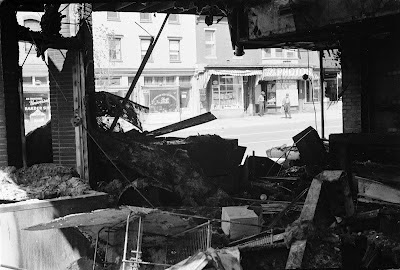 Riot damage in Washington D.C.  following assassination of Martin Luther King, Jr.