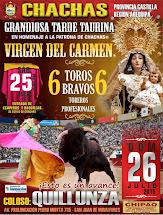 GRANDIOSA CORRIDA DE TOROS 2015 - VIRGEN DEL CARMEN EN LIMA ORGANIZADA POR EL CLUB SOCIAL CHACHAS