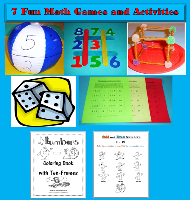 This is a follow up to my 10 fun math games for kids