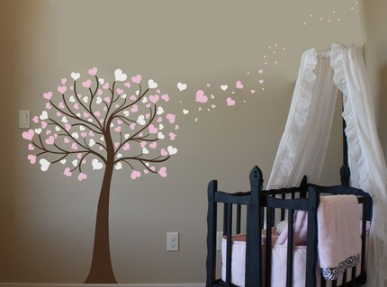Home decorations baby wall decor for girls baby nursery for Baby room decoration wall stickers