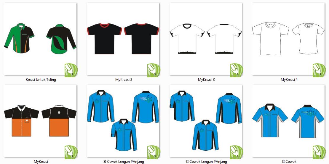 Design Kemeja Dan Kaos Format CorelDraw - Dunia Chayoy