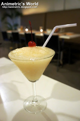 Snowflake Coco-Lychee Martini Slush at Torch Restaurant
