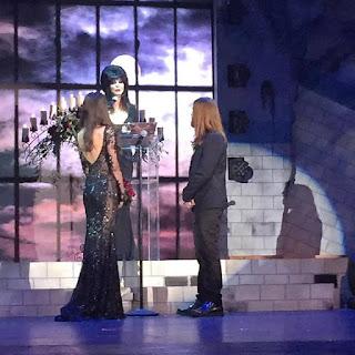 Elvira officiates vamp wedding