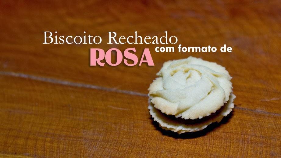 Biscoito recheado com formato de rosa. Foto: Yuri Hayashi