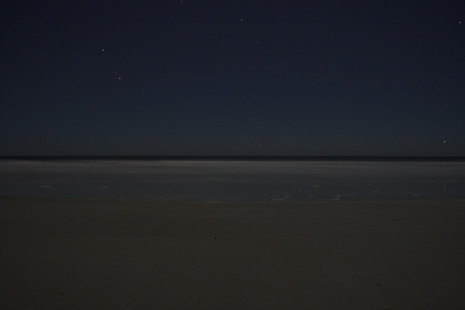 St Augustine Beach At Night