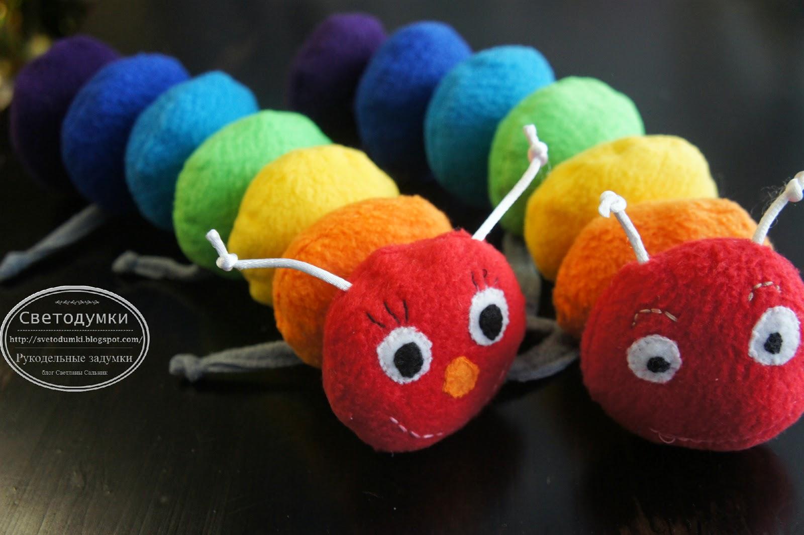 игрушка радуга гусеница