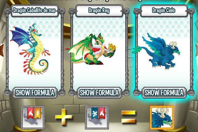 investigando formula para aparear dragon cielo en la cripta de deus