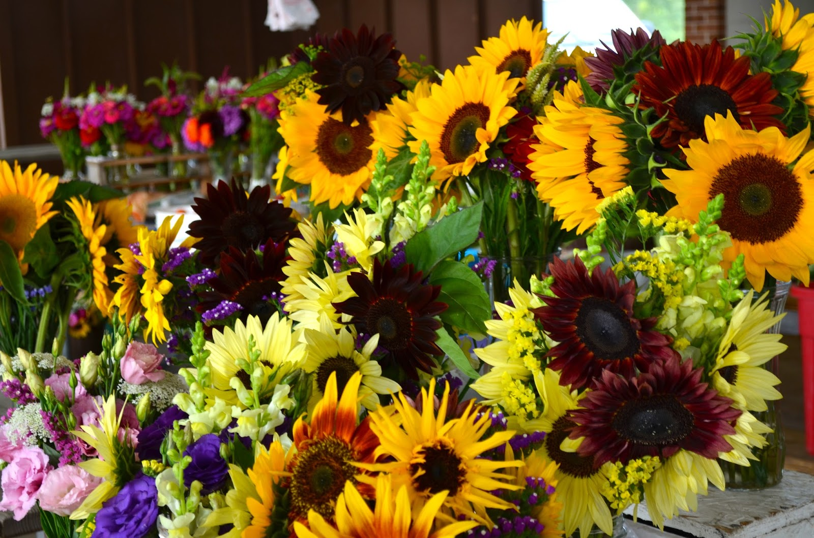 Flowers at Meridian Farmer's Market