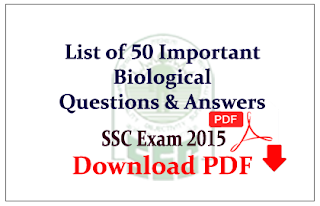 50 Important Biological Questions and Answer Download in PDF