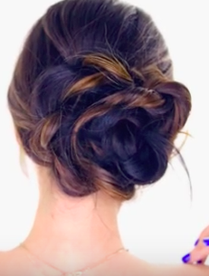 Super Easy Wedding Hairstyle For Bridesmaids: The Floral Side Bun ...