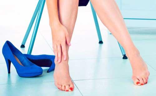 Los tacones y los pies sensibles
