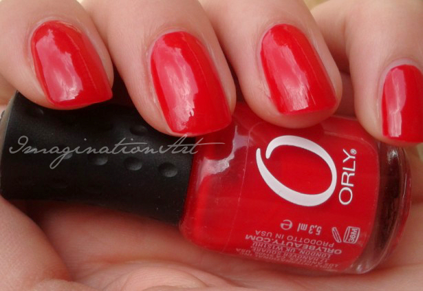 Orly Monroe's Red rosso swatch swatches smalto nail polish lacquer unghie