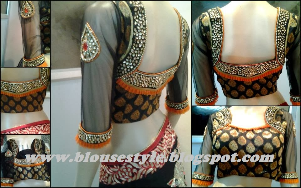 latest 2014 kundan,zardosi,spring and beads work blouse designs ...