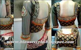 latest fashion 2014 model kundan work designer blouse