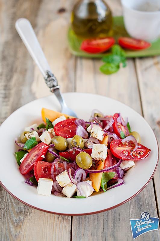 Sałatka z pomidorów na grilla