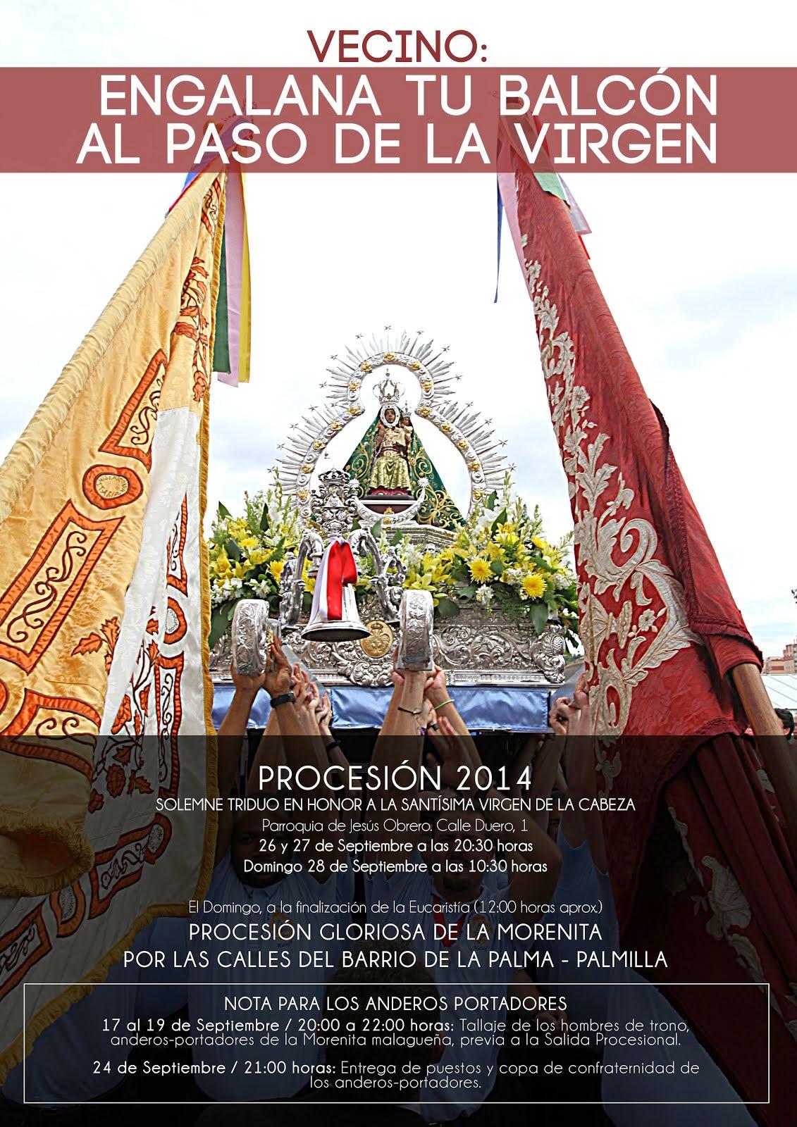 Programa Oficial de Actos y Cultos PROCESIÓN 2014.